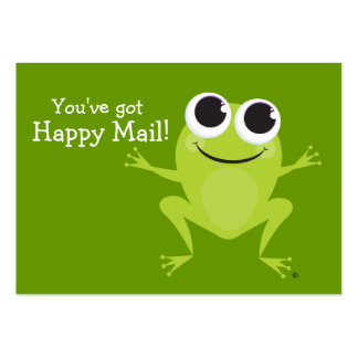 """""""Happy Mail"""" Cute frog card - Fun Gift Ideas! Business Card Templates"""