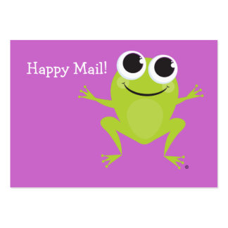 """""""Happy Mail"""" Cute frog card - great gifts for kids Business Card"""