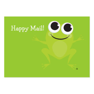 """""""Happy Mail"""" Cute frog card - Personalize it! Business Card"""
