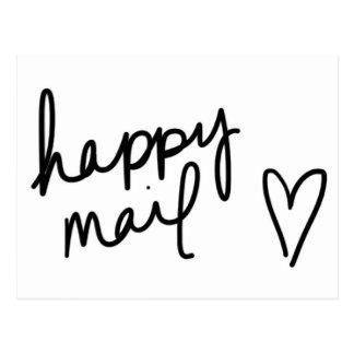 happy mail postcard