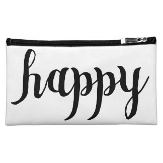 """Happy"" Makeup Travel Bag - Matching Family Cosmetic Bags"