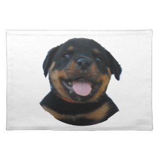 Happy Male Rottweiler Puppy Placemat