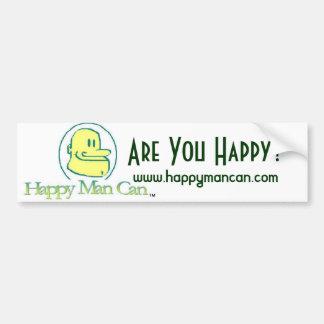 Happy Man Can Bumper Sticker
