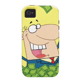 Happy Man in a pile of money Vibe iPhone 4 Cover