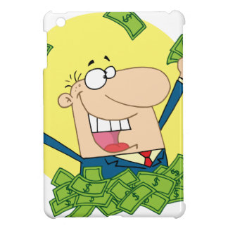 Happy Man in a pile of money Cover For The iPad Mini