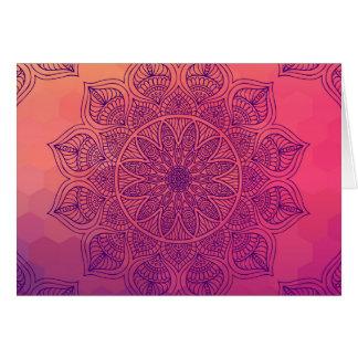 Happy mandala greeting card