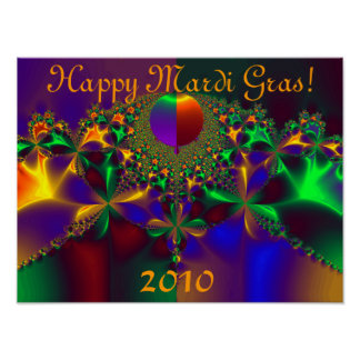 Happy Mardi Gras!  2010 Poster