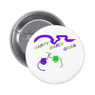 Happy Mardi Gras Pinback Buttons