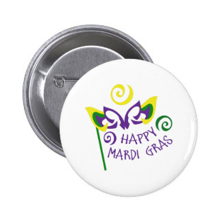 HAPPY MARDI GRAS PIN