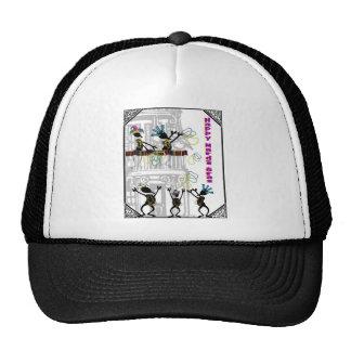 Happy Mardi Gras--Balcony Scene Trucker Hat