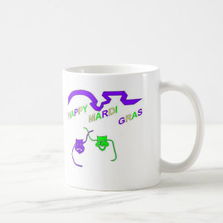 Happy Mardi Gras Basic White Mug
