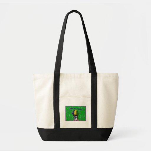 Happy Mardi Gras Boxer Tote Bags