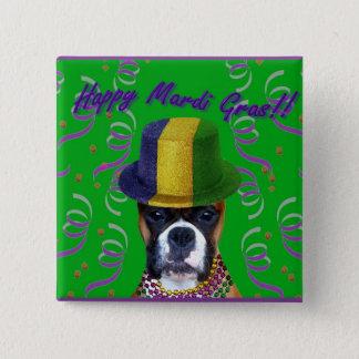 Happy Mardi Gras Boxer button