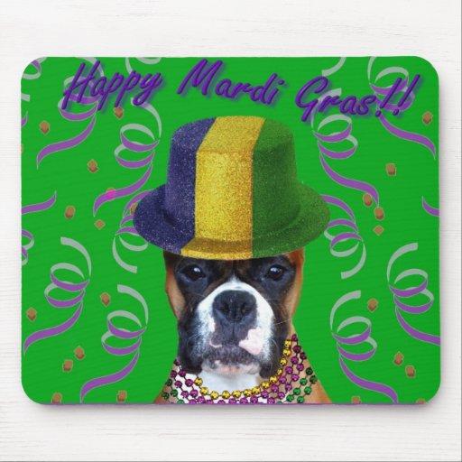 Happy Mardi Gras Boxer mousepad