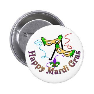 Happy Mardi Gras Button 2 Inch Round Button