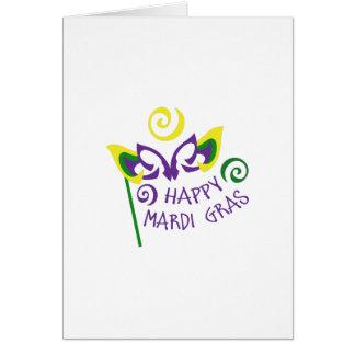 HAPPY MARDI GRAS GREETING CARD