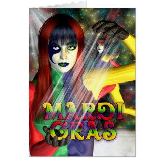 Happy Mardi Gras, Celebration Card