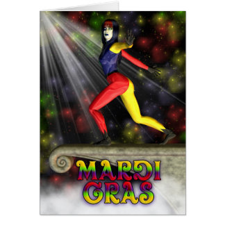 Happy Mardi Gras, Celebration Greeting Card