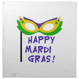 HAPPY MARDI GRAS NAPKIN
