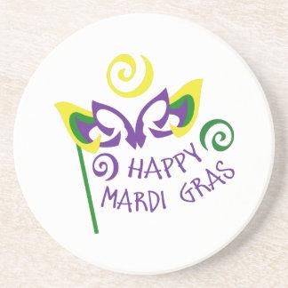 HAPPY MARDI GRAS DRINK COASTER