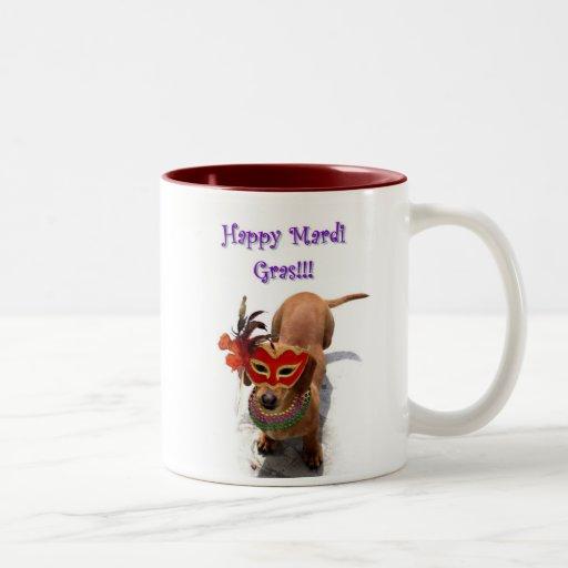 Happy Mardi Gras Dachshund Dog mug