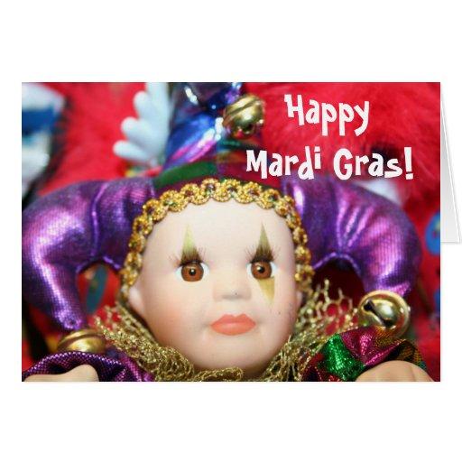 Happy Mardi Gras Doll greeting card