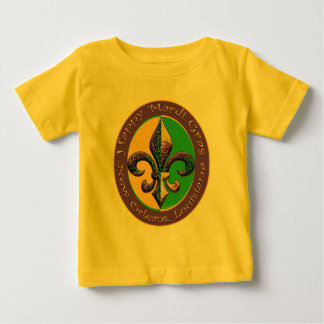 Happy Mardi Gras Fleur de lis Baby T-Shirt