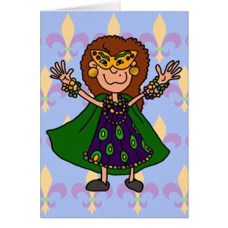 Happy Mardi Gras! Greeting Card