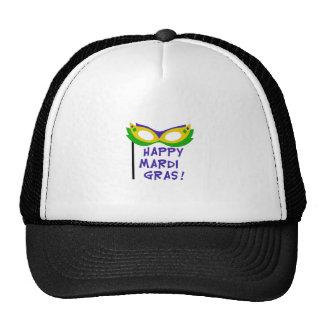 HAPPY MARDI GRAS MESH HAT