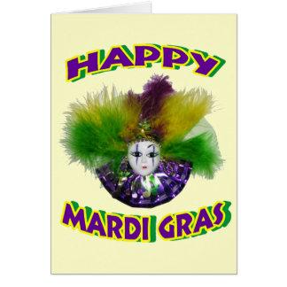 Happy Mardi Gras Mask Greeting Card