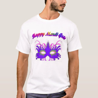 Happy Mardi Gras Mask T-Shirt