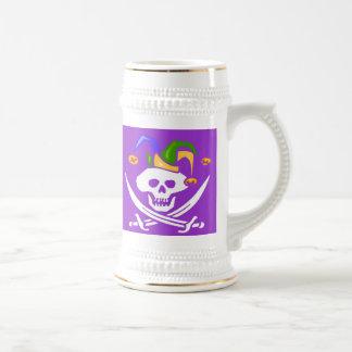 Happy Mardi Gras Pirate Beer Steins
