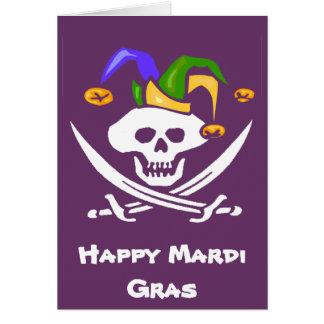 Happy Mardi Gras Pirate Greeting Card