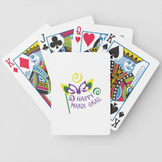HAPPY MARDI GRAS BICYCLE PLAYING CARDS