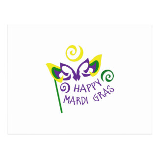 HAPPY MARDI GRAS POSTCARD