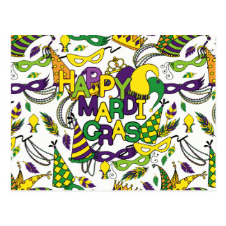 Happy Mardi Gras Postcard