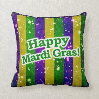 Happy Mardi Gras Poster Cushion