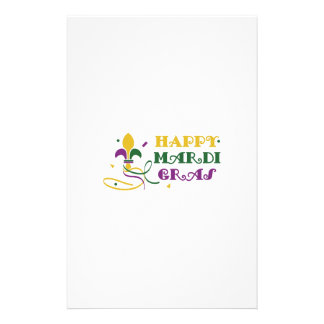 HAPPY MARDI GRAS STATIONERY DESIGN
