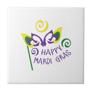 HAPPY MARDI GRAS TILE