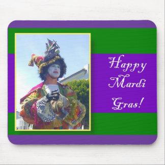 Happy Mardis Gras clown mousepad