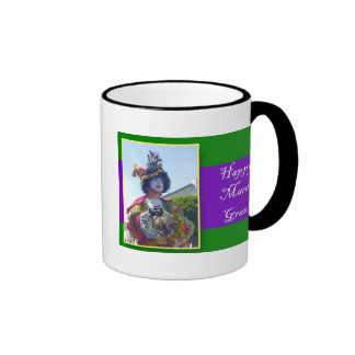 Happy Mardis Gras Clown Ringer Mug