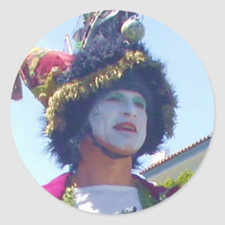 Happy Mardis Gras clown stickers
