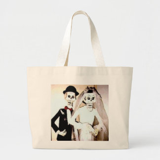 Happy Married Skeleton Couple Hand Bag