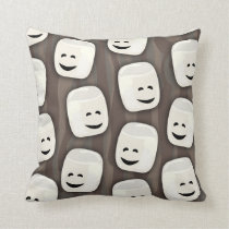 Happy Marshmallow Friends Pattern Cushion