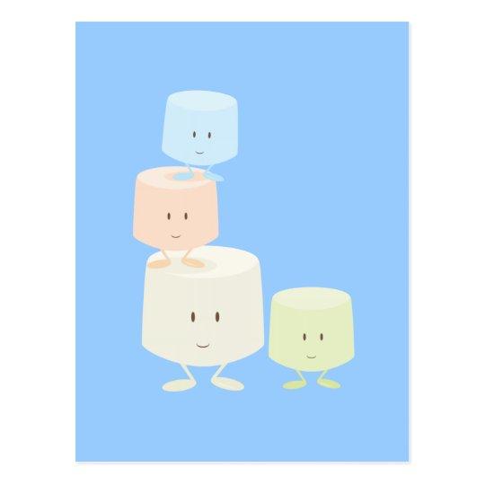 Happy marshmallows postcard