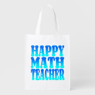 Happy Math Teacher Reusable Grocery Bag