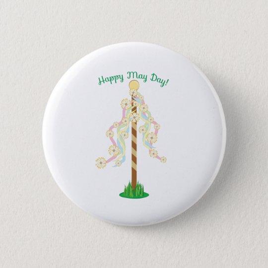 Happy May Day 6 Cm Round Badge