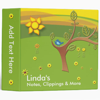 Happy Meadow Binder - For Notes, Clippings & More
