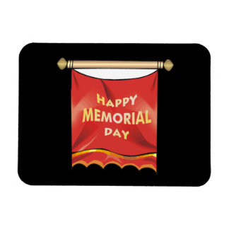 Happy Memorial Day Banner Rectangular Magnet