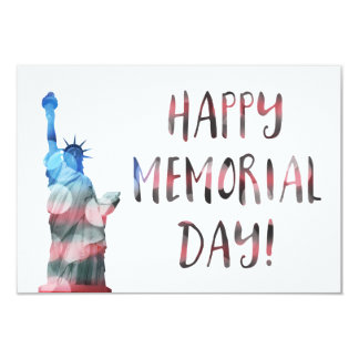 Happy Memorial Day (liberty bokeh) 9 Cm X 13 Cm Invitation Card